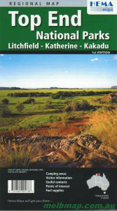 Top End National Parks Map Hema
