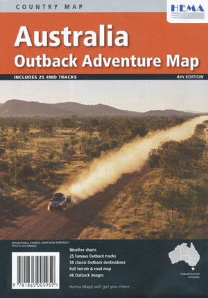 Australia Outback Adventure Map Hema Folded