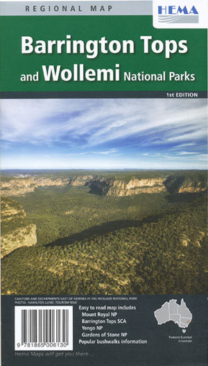 Barrington Tops and Wollemi National Parks Map Hema