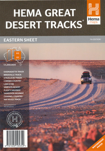 Great Desert Tracks Eastern Sheet Map Hema