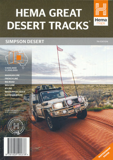 Simpson Desert Great Desert Tracks Map Hema