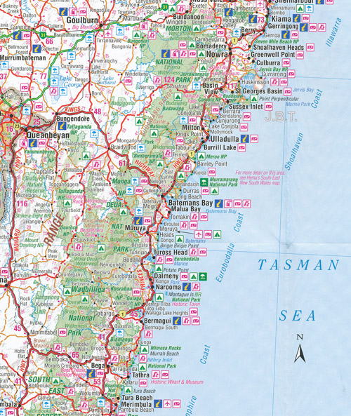 New South Wales Handy Map Hema