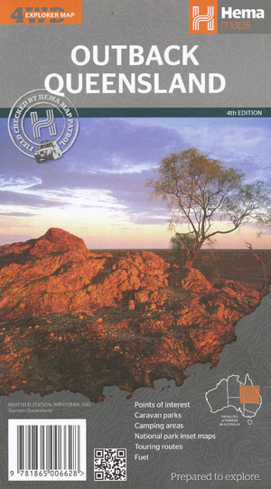 Outback Queensland Map Hema