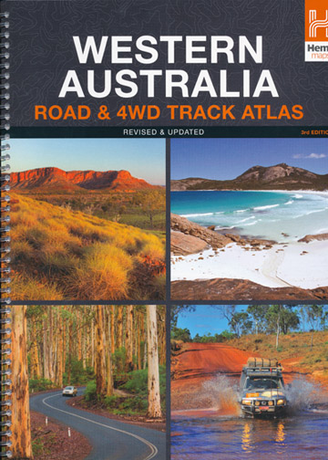 Western Australia Road and 4WD Tracks Atlas Hema Spiral